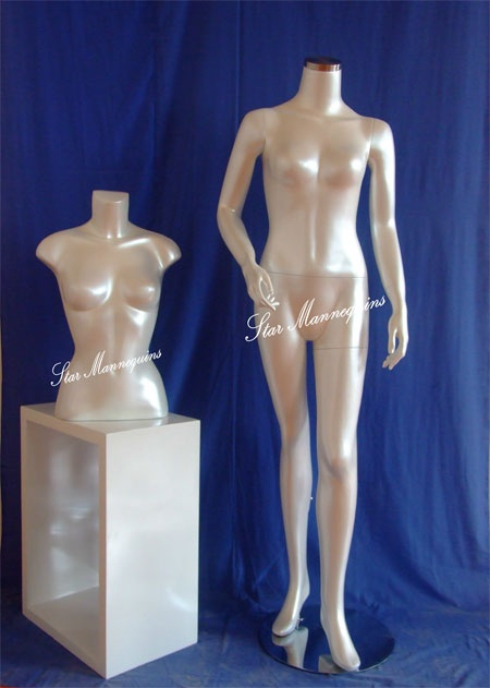 Headless Female Mannequin HFM-020 (Pearl White Color)