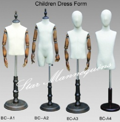 Children Fabric Dress Form Mannequins