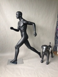 Running Male Mannequin with Head
